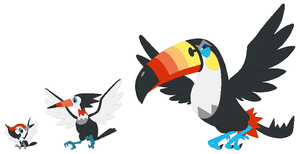 Pikipek, Trumbeak and Toucannon Base