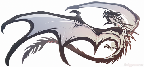 [Character Auction] Ink Wyvern [closed] by Dinkysaurus