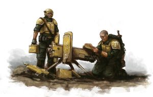 Heavy Bolter Squad by MasterAlighieri