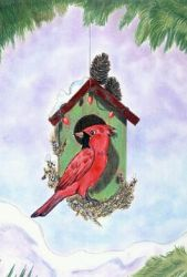 2010 Christmas Birdhouse by calzephyr