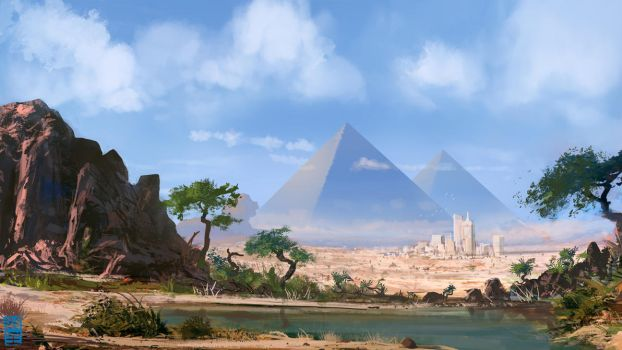 New Age Pyramids by JoshHutchinson