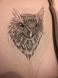 Owl Wall Sketch by Tom Yakovlev by InkedOnyx