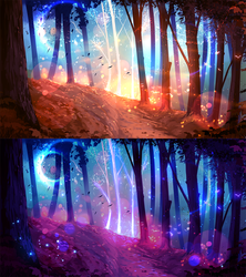 In the forest ( SCENERY AUCTION CLOSED) by ryky