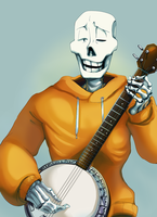 Papy plays the ol' banjo by FloweytheInnocent