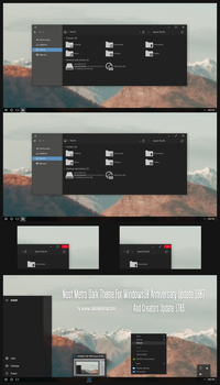 Nost Metro Dark Theme Win10 Creators Update by Cleodesktop