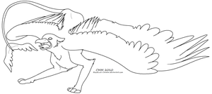 Free Griffin Lineart by CarmanMM-Dirda