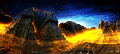 Fire temple by KPEKEP