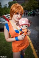 Chopper and Nami in our Goku outfits by St3phBot