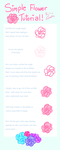 . Simple Flower Tutorial . by fawnbun