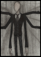 18th century  slenderman by Cageyshick05