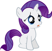 Filly Rarity - Sad by Ocarina0fTimelord