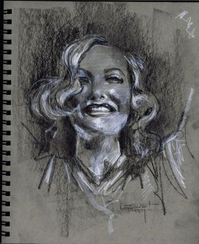 Joan-Crawford-Charcoal-Study by Fusciart
