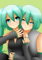 Miku and Mikuo by LadyGalatee