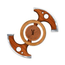 Bunny Wooden Chakram by Axection
