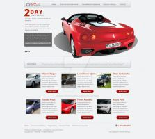 Web Design: Auto One Auctions by polarbear0743
