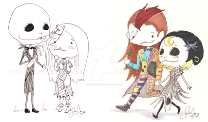 Jack and Sally and Mally and Sack by chillinchikjw