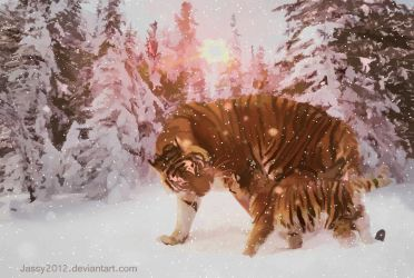 Tiger Babys First Snow - Animation by JassysART