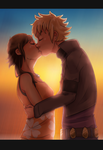 Request - Kingdom Hearts: a kiss at sunset by Anime-Grimmy