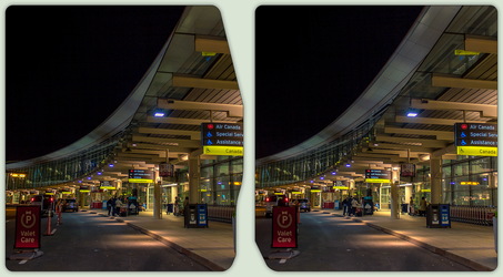 Toronto Pearson International Airport 3-D CrossEye by zour