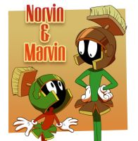 Norvin and Marvin by yyyei