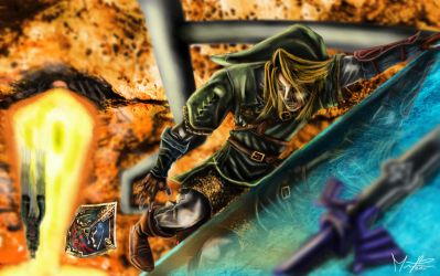 Link vs Zant wallpaper 2 by marcosbaruco