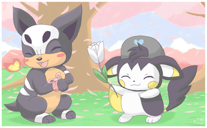 Emolga and Houndour