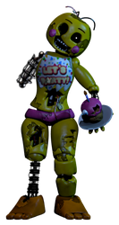 Withered Toy chica (my version) by AgentPrime