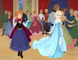 Anna and Elsa (Frozen) by suburbantimewaster