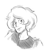 Pink Diamond doodle by LittleSnaketail