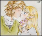 Remake Kiss Zelink Skyward Sword by zilia-k