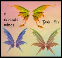 Psd fairy wings by Adaae-stock