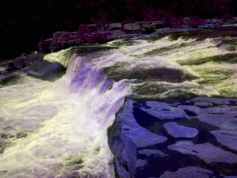 Ohiopyle Waterfall Colored by AislingLady