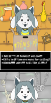 Temmie Earns Muns For Colleg by SodiePawp