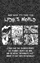 title page to lydia's world by yowassup