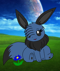 Dez as the eevee picture by BluethornWolf