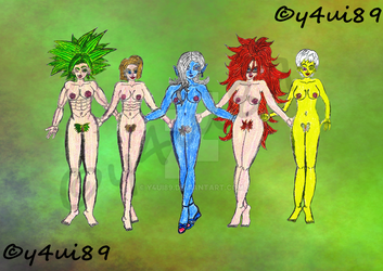 Kefla,Android 18, Towa, Android 21 and Chelye NSFW by y4ui89