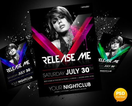 Release Me Party Flyer by Party-Flyer