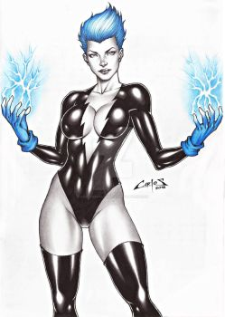 LIVEWIRE (Leslie Willis) commission done !!! by carlosbragaART80