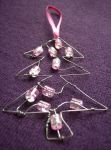 Pink Tree Christmas decoration by SneddoniaDesigns