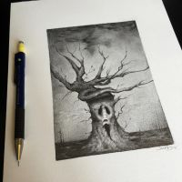 Swampfiend graphite drawing.  by anythingbuthumans