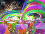 Color Beams in Space