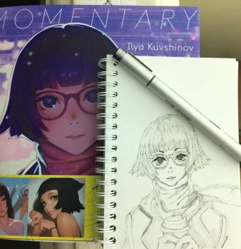 draw Kuvshinov ilya's artbook cover by rianwirata