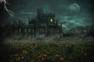 Haunted Castle.. by AledJonesDigitalArt