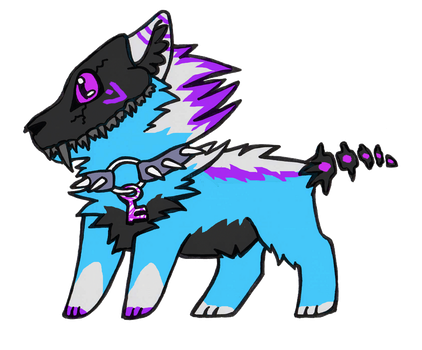 hellhound adoptable2 closed by DarkGhost97