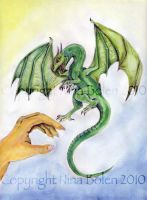 Dragon and hand painting by The-GoblinQueen