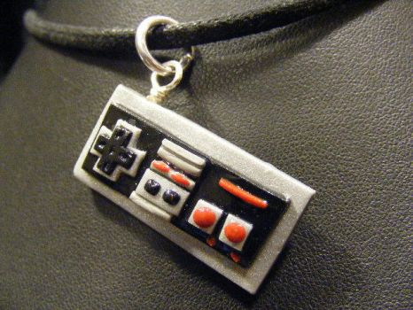 polymer clay controller pendant by BacktoEarthCreations
