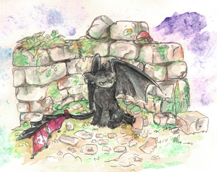 Thoothless watercolor by Kna