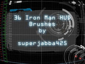 Iron Man HUD Tech Brushes by superjabba425