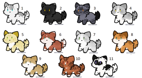 Warrior Cat adopts:: Cute lil fluff balls by PoisonFate