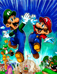 Commission: VG Art 21: Super Mario Brothers by Pixelated-Takkun